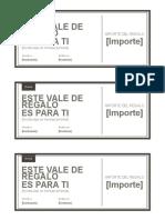 Plantilla - Vale Regalo