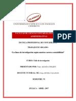 YANE ALIAGA COLQUE -Resumen de Las Lineas de Investigacion