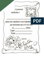 Certificado Raton Perez