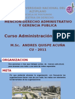 Administracion Para Maestria de Derecho