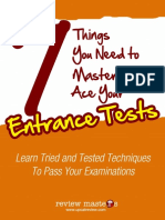 7 Things to Master to Ace Your College Entrance Test Free eBook SftW5