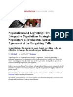 PON - Negotiations and Logrolling