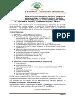 Cuarta Convocatoria N03-2017-LG-FSM Contratación Del Servicio de Movilidad Escolar Pampa Grande