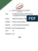 Trabajo Monográfico El Derecho Constitucional Peruano y Su Objeto de Estudio 2016