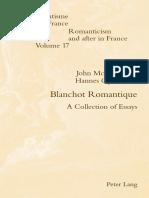 Blanchot Romantique