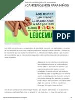 5 Peligrosos Cancerígenos Para Niños - Barcelona Alternativa