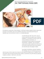 Alimentos Con Triptofano Para Ser Feliz - Barcelona Alternativa