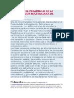 Analisis Del Preambulo de La Constitucion Bolivariana de Venezuela
