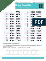f-1 binary bracelets activity sheet