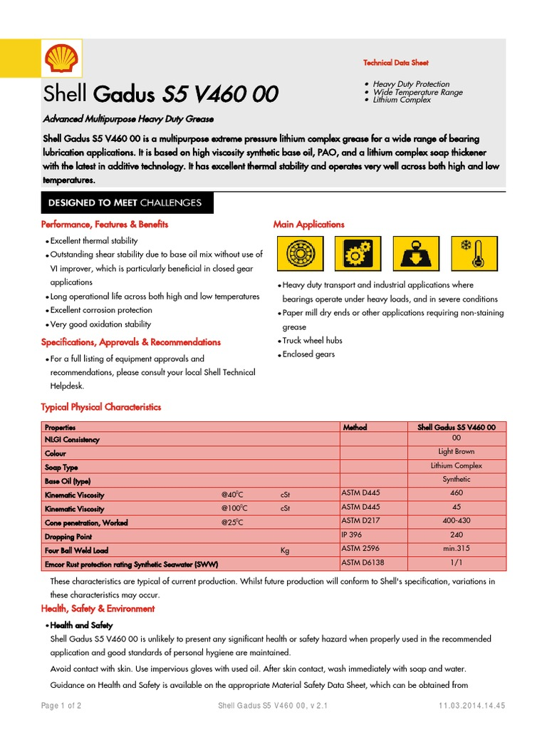 shell-gadus-s5-v460-00   Chemistry   Materials