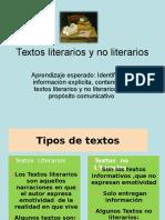 Textos Literarios y No Literarios 2º