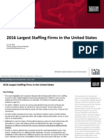 2016 Largest Staffing Firms in the US 1
