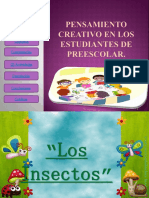 110710465 Pensamiento Creativo en Los Estudiantes de Preescolar