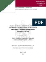 MEJORA DE SEGURIDAD DE INFORMACIÓN EN LA COMANDANCIA DE OPERACIONES GUARDACOSTAS BASADA EN LA NORMA TÉCNICA PERUANA     NTP-ISO/IEC 27001:2008