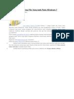 Cara Setting Sharing File Yang Baik Pada Windows 7
