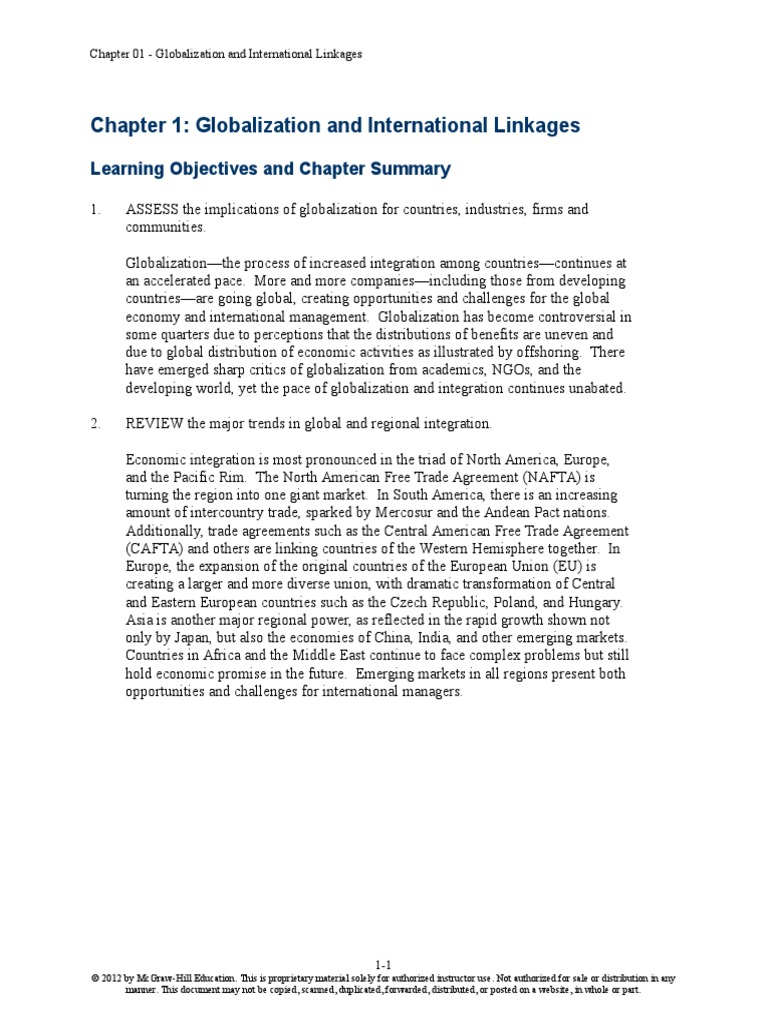 globalization and education summary