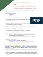 Guía de temas para 1° parcial de Filosofía