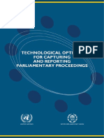 Technological Options for Capturing and Reporting Parliamentary Proceedings
