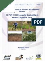 Desarrollo Sostenible Quinua Orgánica