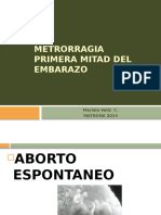 Metrorragia Primera Mitad Del Embarazo2012