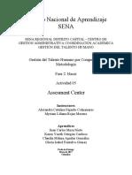 "Fase 2 Hacer Actividad 5 ""Assesment Center"" Grupo 7"