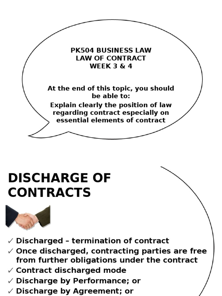 explain discharge of contract