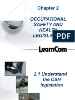 OSH Chapter 2 Occupational Safety and Health Legislation