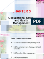 OSH Chapter 3 Occupational Safety and Health Management