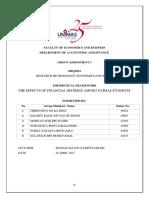 (Final) Assignment 3 - Theoretical Framework on Financial Distress