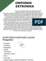 Materi Kuliah Komponen Elektronika. 2016,2017