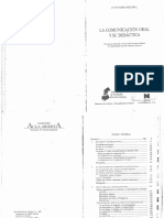 Reyzabal María Victoria, La Comunicacion Oral y Su Didactica (1)
