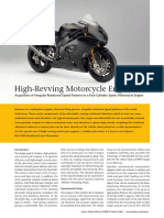 High Revving Motorcycle Engines - Vibration Measurement