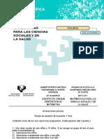 Matematicas de Las Ciencias Sociales y de La Salud.2011