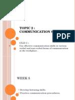 Soft Skilss Chapter 2 Communication Skills WEEK 5