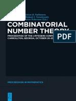 Bruce Landman - Combinatorial Number Theory