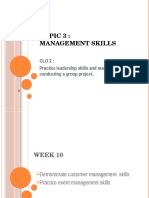 Soft Skills Chapter 3 Management Skills WEEK 10