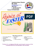 April 2010 West Cessnock Congregational Church Newsletter