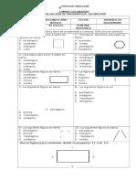 Evaluación de Geometría Segundo Viernes 29 de Noviembre