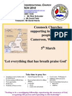March 2010 West Cessnock Congregational Church Newsletter