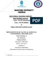 Tebma shipyard internship Report
