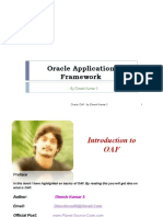 Oracle OAF Introduction - By Dinesh Kumar S