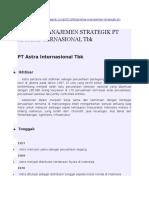 Analisa Manajemen Strategik Pt Astra Internasional Tbk