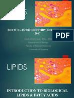 BIO2210 Lipids
