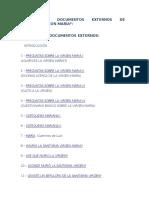 Listado de Documentos Externos de Mariología