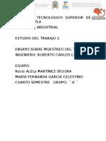Ensayo Estudio Del Trabajo- Fernanda-rocio