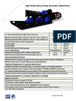 Excavator Dredge Pump Attachment Specs 10 Inch