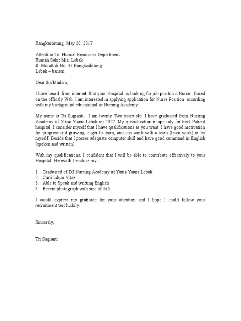 140224804 Contoh Surat Lamaran Kerja Bahasa Inggris 5 Doc
