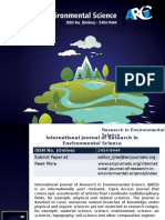 International Journal of Research in Environmental Science - ARC Journals