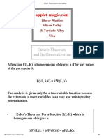 Euler's Theorem and Its Generalization