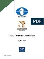 FIDE TRG Syllabus Book